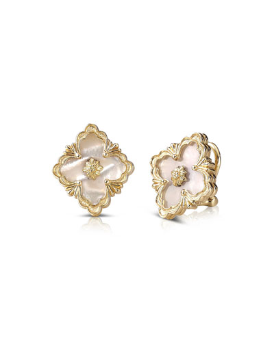 Opera 18k Gold Button Earrings in Mother-of-Pearl