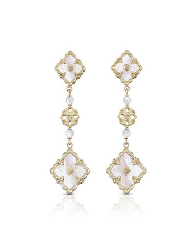18k Mother-of-Pearl Opera Pendant Earrings