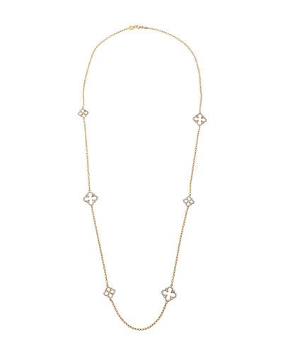 18K Royal Couture Diamond Clover Necklace