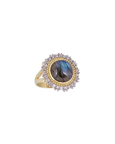 18K Royal Couture Labradorite Sunburst Ring