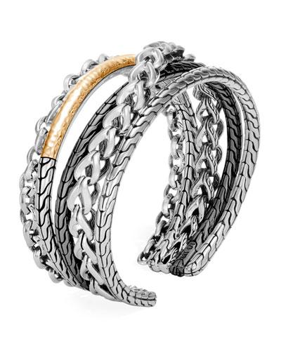 Asli Classic Chain Crossover Flex Cuff Bracelet