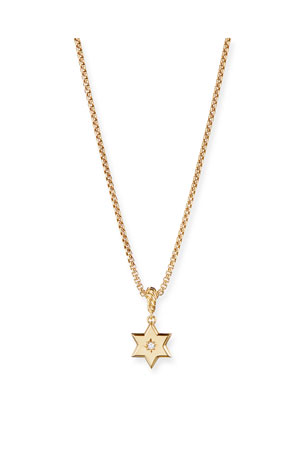 David Yurman 18k Gold Diamond Star of David Pendant