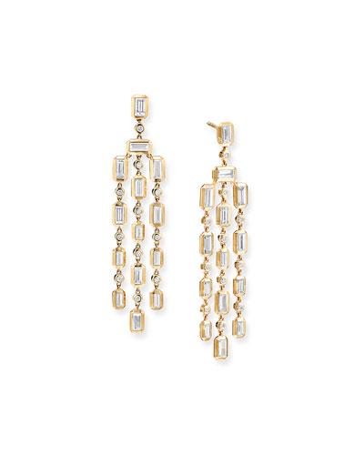Novella Chandelier 18k Gold Diamond Earrings