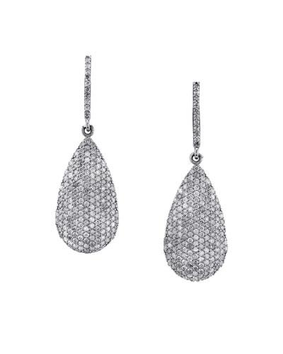 Diamond Pave Teardrop Earrings