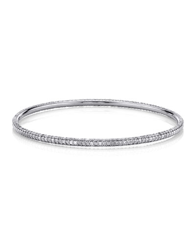 3-Row Pave Diamond Bangle