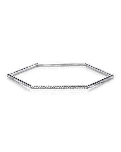 Diamond Hexagonal Bangle