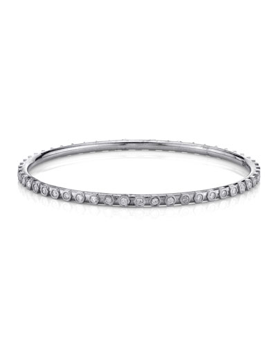 Raised Diamond Bezel Bangle