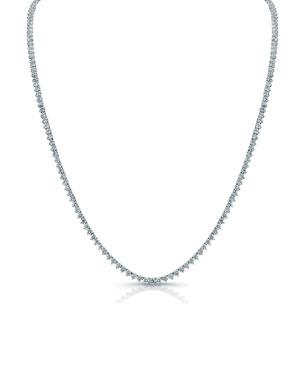 24095a4190c1 Norman Silverman Classic Opera 18k White Gold Diamond Tennis Necklace