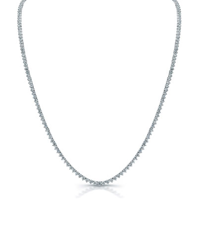 Classic Opera 18k White Gold Diamond Tennis Necklace  32L