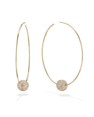 14k Diamond Lumen Hoop Earrings