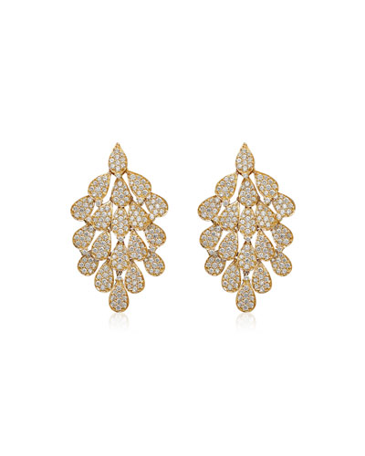 Secret Garden 18k Diamond Drop Earrings