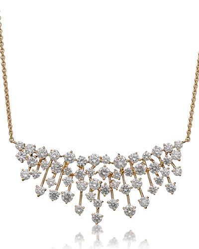 Luminus 18k Gold Diamond Bib Necklace