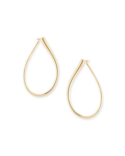 Millennia 18k Gold Electroform Pear Earrings