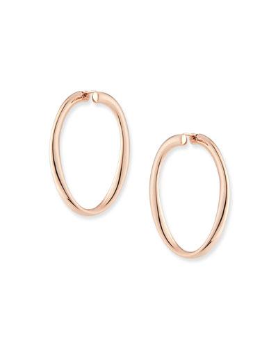 18k Rose Gold Electroform Hoop Earrings