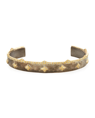 Old World Diamond Crivelli Cuff Bracelet