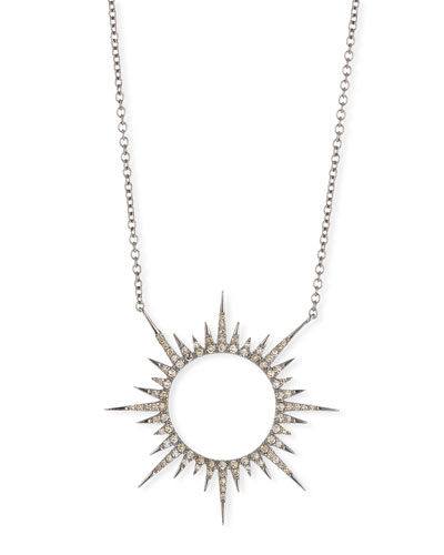 Diamond Sun Pendant Necklace