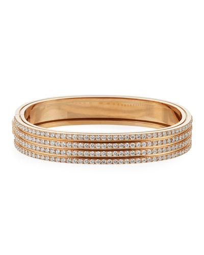 Portofino 18k Rose Gold Diamond 4-Row Bangle