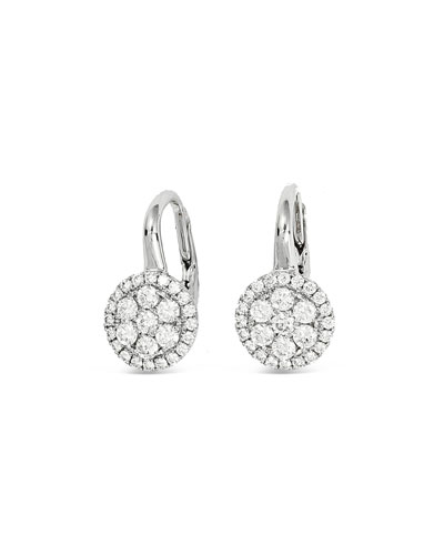 Rirenze 18k White Gold Small Diamond Earrings