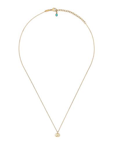 18k Gold GG Running Necklace w/ Topaz