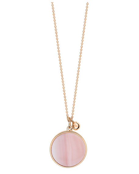 Ever 18k Rose Gold Pink Mother-of-Pearl Pendant Necklace