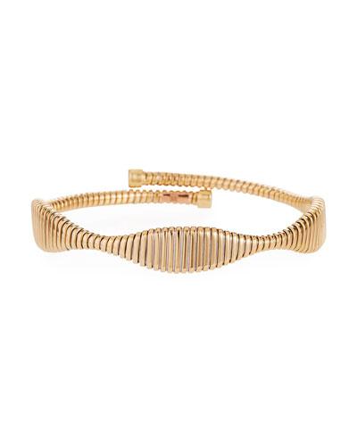 18k Gold Tubogas Bypass Flex Bangle