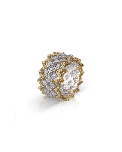 Buccellati Rombi Eternelle 18k Diamond Ring Size 5 25