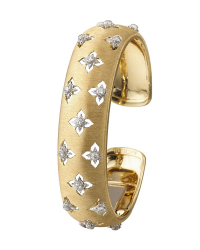 Macri Giglio 18k Yellow Gold Diamond Cuff  1.5cm