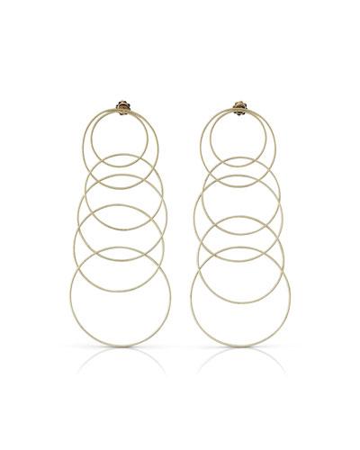 Hawaii Waikiki 18k Gold Pendant Earrings