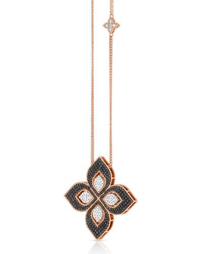 Venetian Princess 18k Rose Gold Mixed-Diamond Necklace