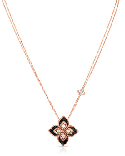 Venetian Princess 18k Rose Gold Diamond & Mother-of-Pearl Necklace