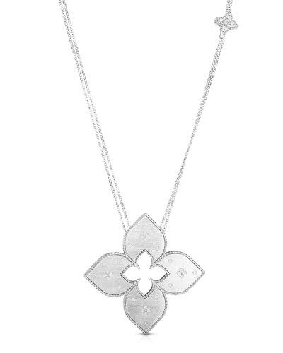 Venetian Princess 18k White Gold Diamond Cutout Necklace