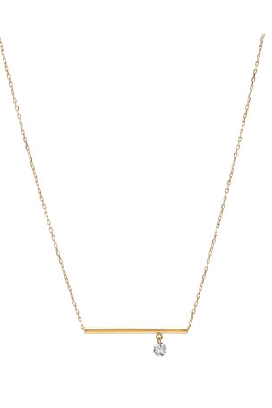 Nicha Jewelry 18k Floating Diamond & Bar Pendant Necklace