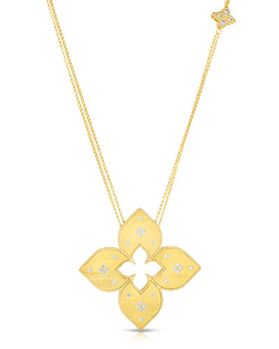 Venetian Princess 18k Diamond Cutout Necklace