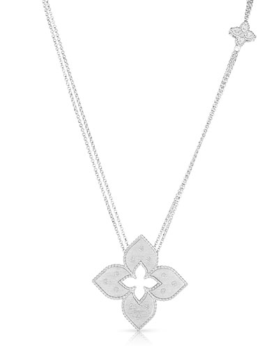 Venetian Princess Mini 18k White Gold Diamond Cutout Necklace