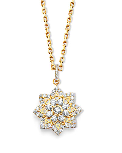 20k Gold Diamond Mandala Pendant