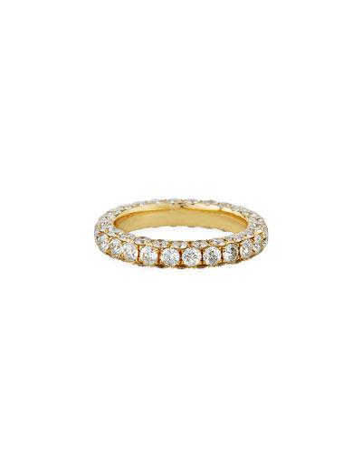 18k Gold Diamond 3-Sided Ring, Size 7