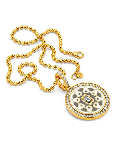 20k Gold Mandala Coin Pendant w/ Diamonds