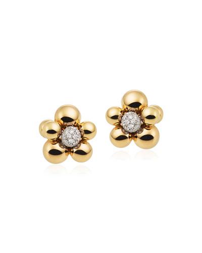 Atomo Mini Diamond Cluster Earrings in 18K Gold