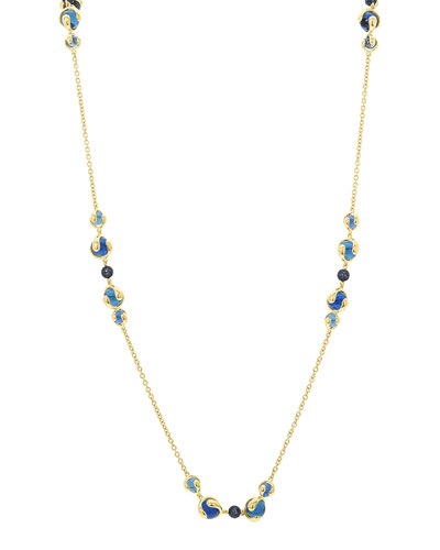 18k Gold Mixed-Stone Station Necklace
