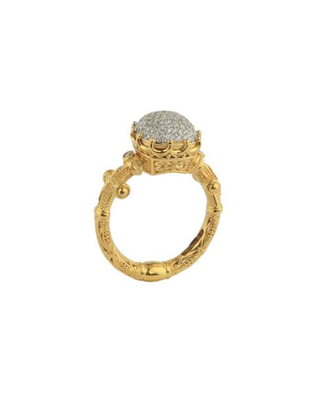 Konstantino 18k Yellow Gold Diamond Pave Ring