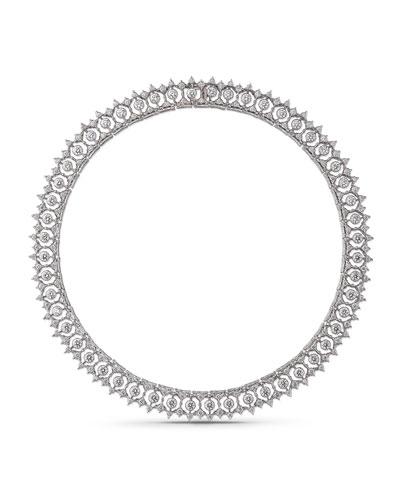 18k White Gold Diamond Collar Necklace