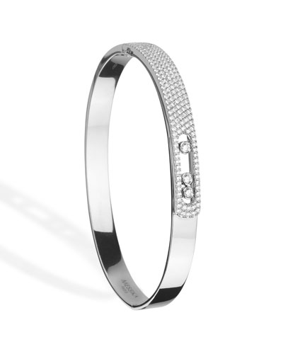 Move Noa Diamond Bangle in 18K White Gold