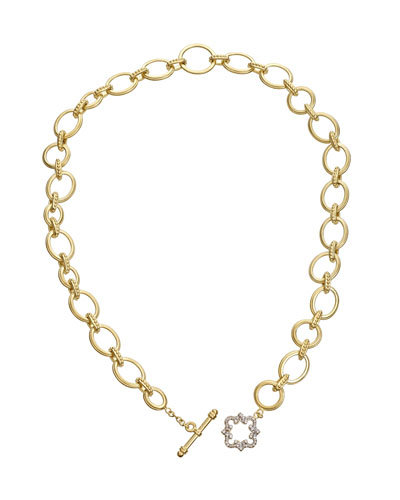 18K Royal Couture Diamond Cloud Toggle Necklace