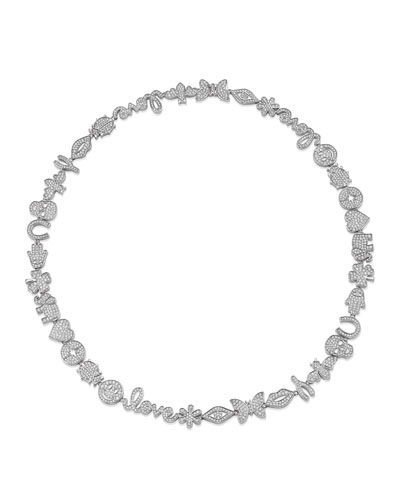 15th Anniversary Diamond Necklace w/ 14k White Gold