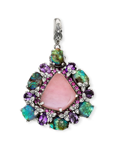 Pink Chalcedony & Multi-Stone Pendant