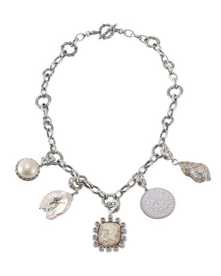 Stephen Dweck Detachable Pearl & Pendant Necklace