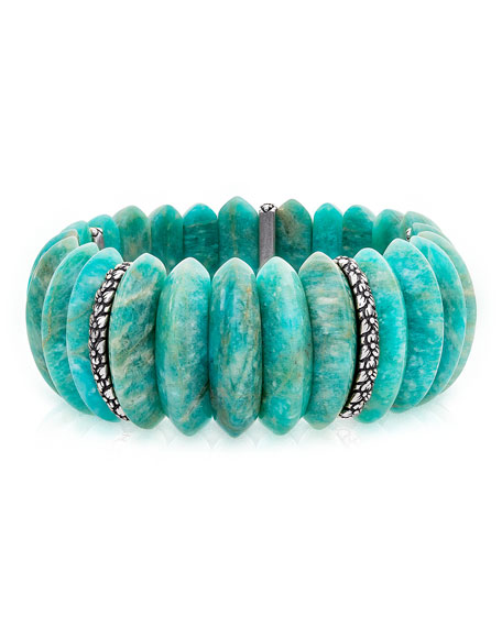 Stephen Dweck Amazonite Stretch Bracelet