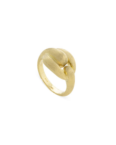Legami 18k Gold Interlock Ring  Size 7