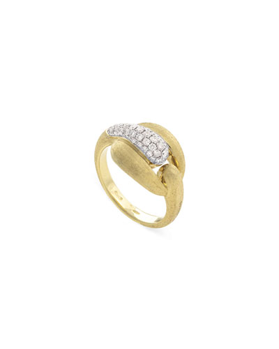 Legami 18k Diamond Pave Interlock Ring  Size 7