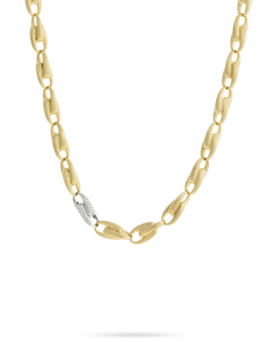 Legami 18k Diamond Interlock Necklace